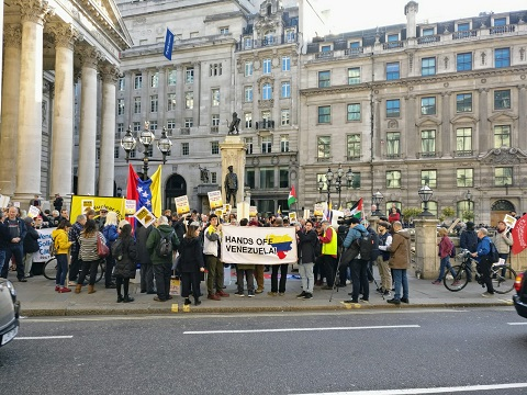 Protest outside the Bank of England 1